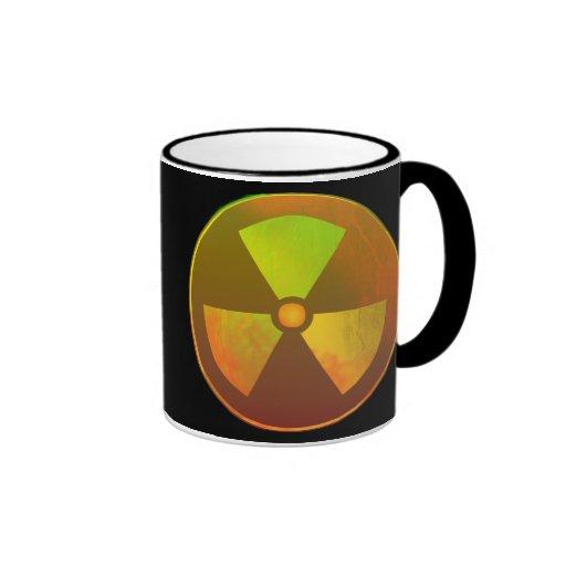 Nuclear Symbol Radioactive Glow Coffee Mugs