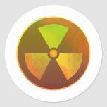 Nuclear Symbol Radioactive Glow Classic Round Sticker