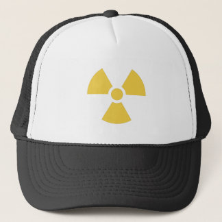 Nuclear symbol yellow trucker hat