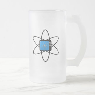 Nuclear Television Frosted Glass Beer Mug
