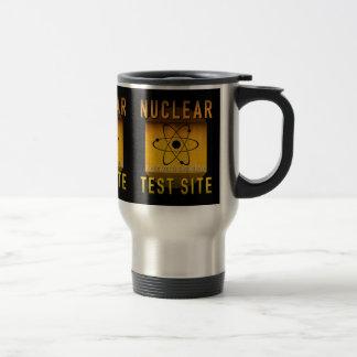 Nuclear Test Site Retro Atomic Age Grunge : Travel Mug