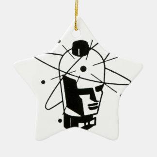 Nuclear Tube Head Ceramic Ornament