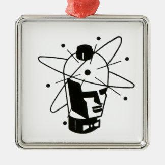 Nuclear Tube Head Metal Ornament