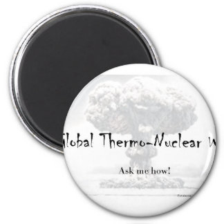 Nuclear War Debate Products Refrigerator Magnet
