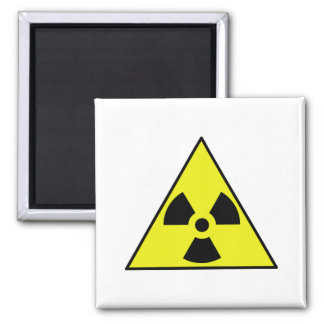 Nuclear Warning Triangle 2 Inch Square Magnet
