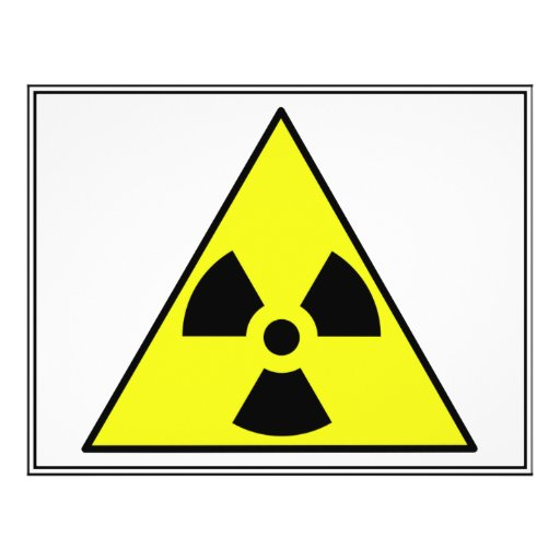 "Nuclear Warning Triangle 8.5"" X 11"" Flyer"