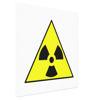 Nuclear Warning Triangle Gallery Wrapped Canvas