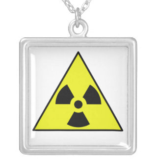 Nuclear Warning Triangle Custom Necklace