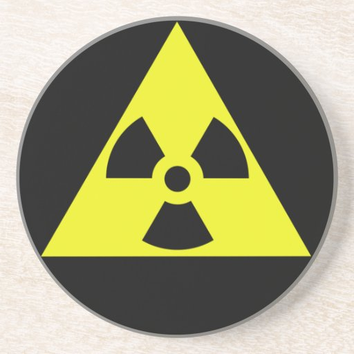 Nuclear Warning Triangle Drink Coasters