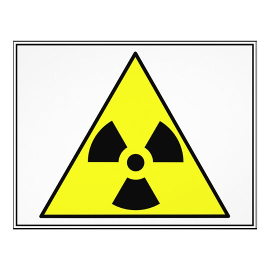 Nuclear Warning Triangle Flyer