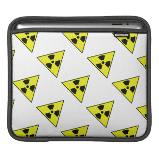 Nuclear Warning Triangle Sleeve For iPads