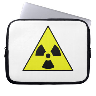 Nuclear Warning Triangle Laptop Sleeves