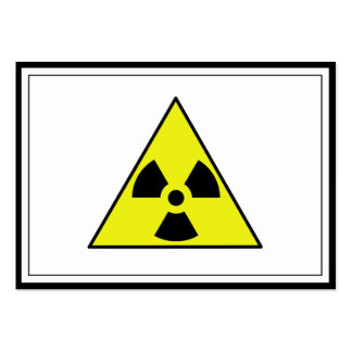 Nuclear Warning Triangle Large Business Card