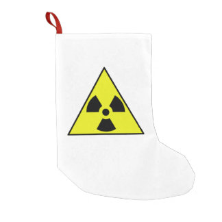 Nuclear Warning Triangle Small Christmas Stocking