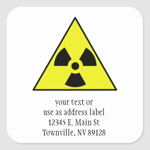 Nuclear Warning Triangle Sticker