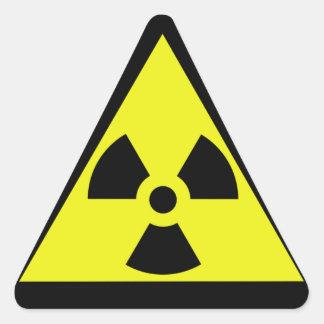 Nuclear Warning Triangle Triangle Sticker