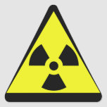 Nuclear Warning Triangle Triangle Stickers