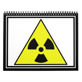 Nuclear Warning Triangle Wall Calendars