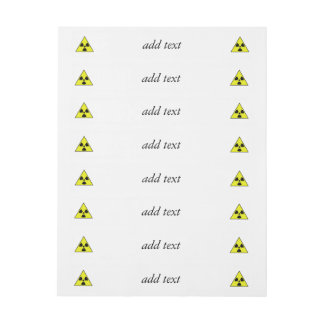 Nuclear Warning Triangle Wrap Around Address Label