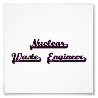 Nuclear Waste Engineer Classic Job Design Photo Print