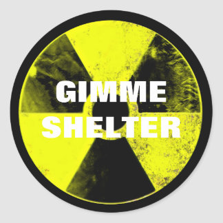 nuclear weapons classic round sticker