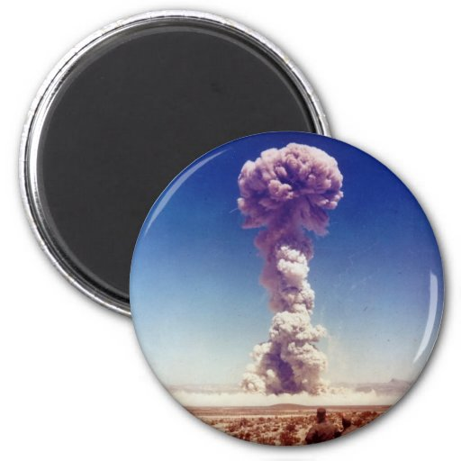 Nuclear Weapons Test Operation Buster-Jangle 1951 2 Inch Round Magnet