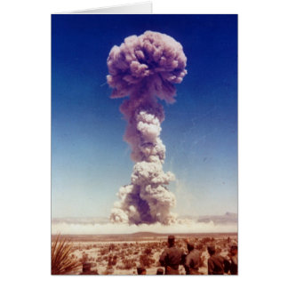 Nuclear Weapons Test Operation Buster-Jangle 1951 Greeting Card