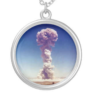 Nuclear Weapons Test Operation Buster-Jangle 1951 Silver Plated Necklace