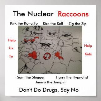 nuclearraccoonss, el nuclear, Kirk el Kung, F… Póster