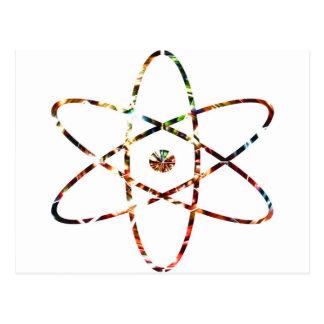 Nucleas nuclear - diseño rojo de la chispa postales