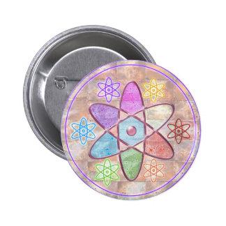 NÚCLEO - adición de belleza a la ciencia Pin Redondo 5 Cm