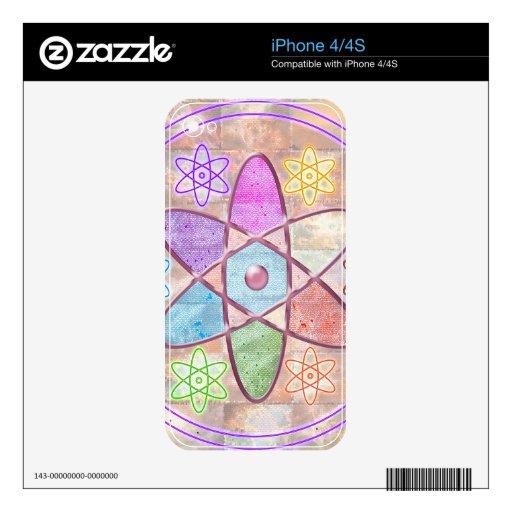NÚCLEO - adición de belleza a la ciencia Calcomanía Para El iPhone 4S