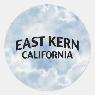 Núcleo de condensación del este California Pegatina Redonda
