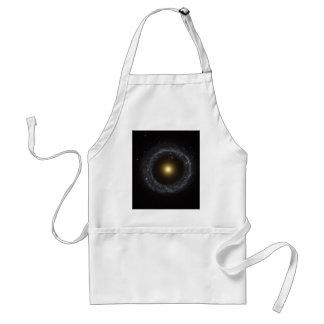 Núcleo de la galaxia del objeto de Hoag Delantal