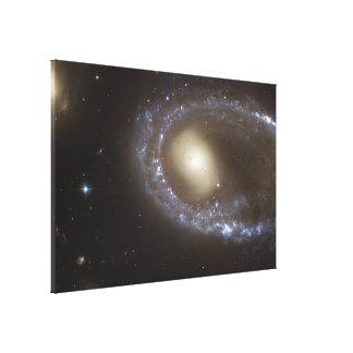 Núcleo del anillo de las estrellas azules de la impresiones de lienzo
