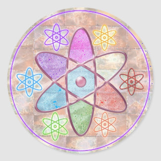 NUCLEUS - Adding Beauty to Science Classic Round Sticker