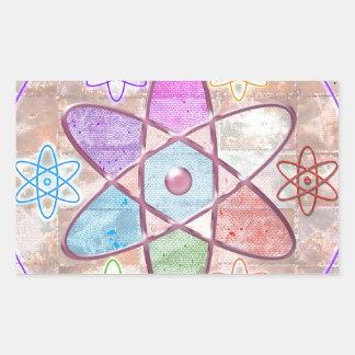 NUCLEUS - Adding Beauty to Science Rectangular Sticker