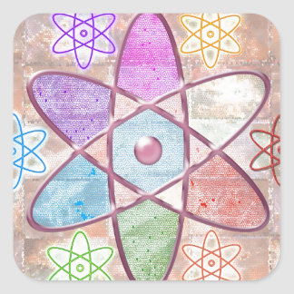 NUCLEUS - Adding Beauty to Science Square Sticker
