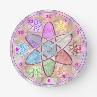 NUCLEUS - Nuclear Adding Beauty to Science Round Clock