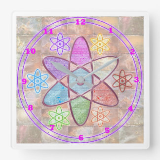 NUCLEUS - Nuclear Adding Beauty to Science Square Wall Clock