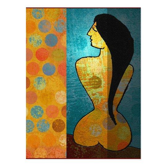 Nude in Meditation Postcard