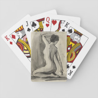 Nude Sketch of Female Body by Ethan Harper Card Deck