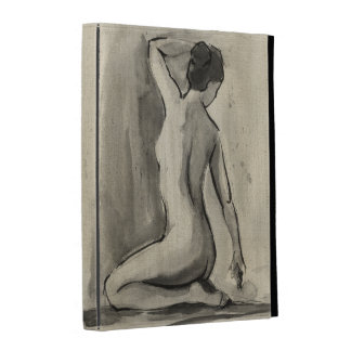 Nude Sketch of Female Body by Ethan Harper iPad Folio Covers