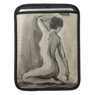 Nude Sketch of Female Body by Ethan Harper iPad Sleeve