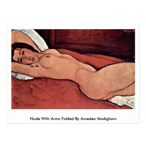 Nude With Arms Folded By Amedeo Modigliani Postcard