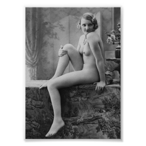 Nude Woman French Art Nouveau 8 Poster