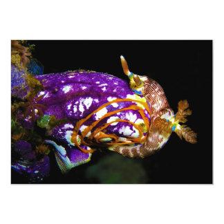Nudibranch Laying Egg Sea Squirt Polycarpa Aurata 5x7 Paper Invitation Card