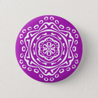 Nudibranch Mandala Pinback Button
