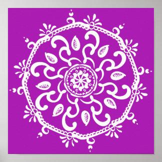 Nudibranch Mandala Poster