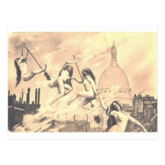 Nudie  ian Witches Postcard